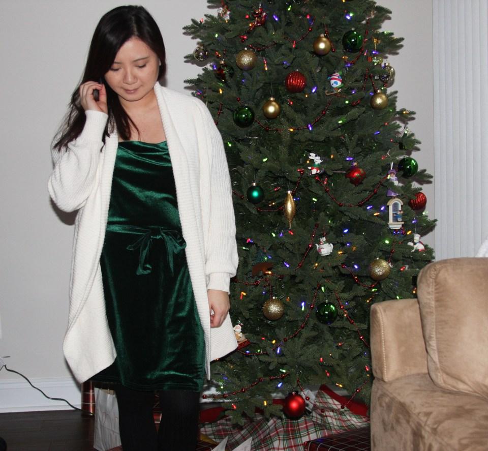Green Velvet Dress 11