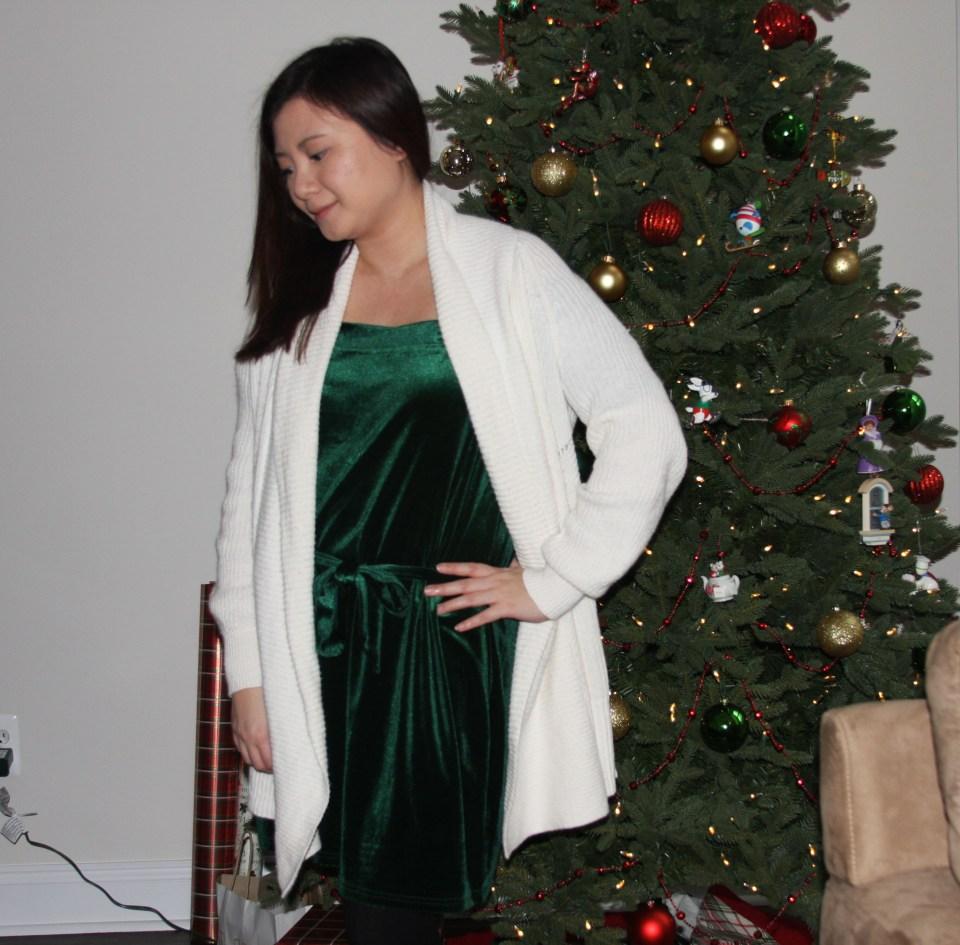Green Velvet Dress 3