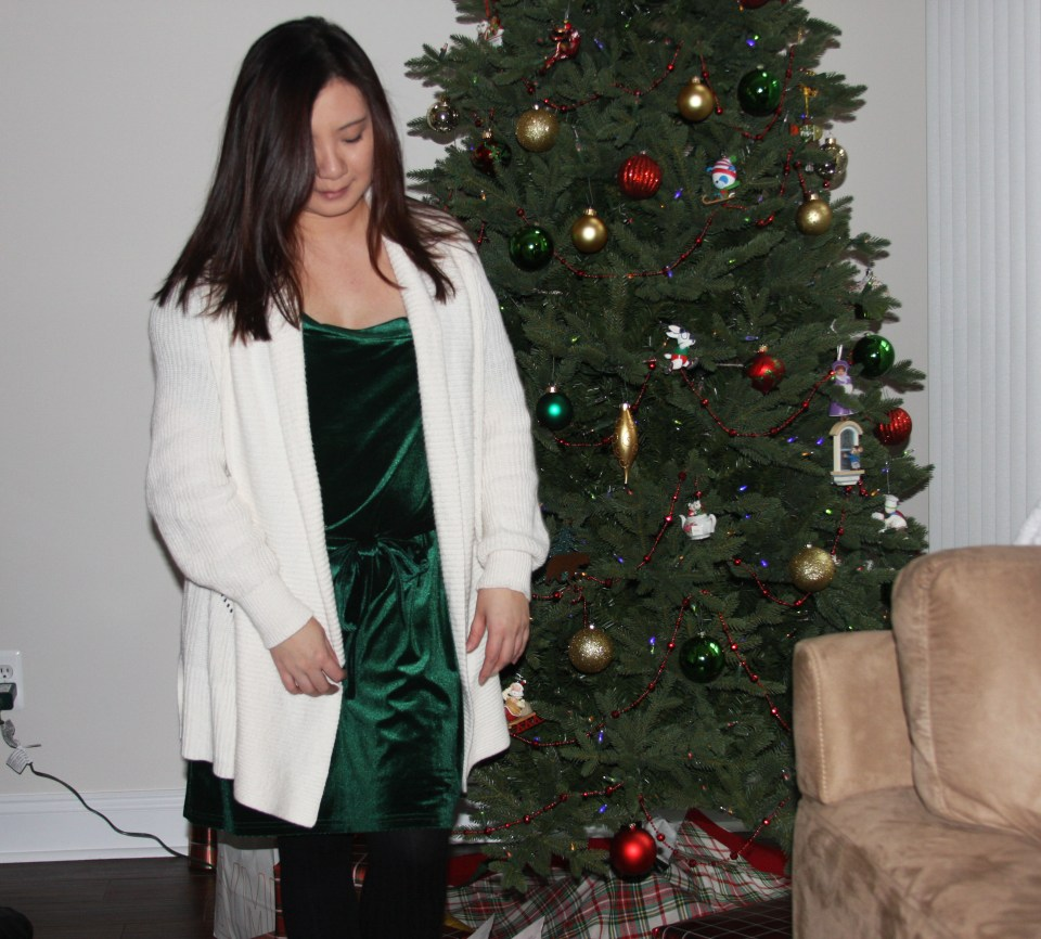 Green Velvet Dress 8