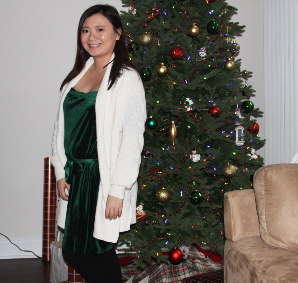 Green Velvet Dress 9