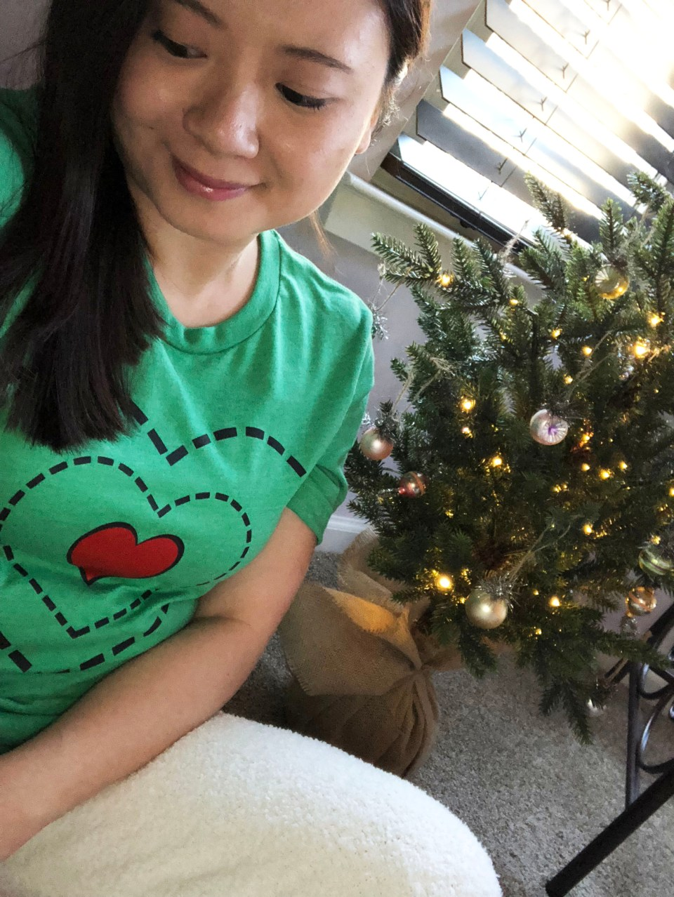 Grinch - Heart Two Sizes Too Small Tee + Teddy Leggings 3