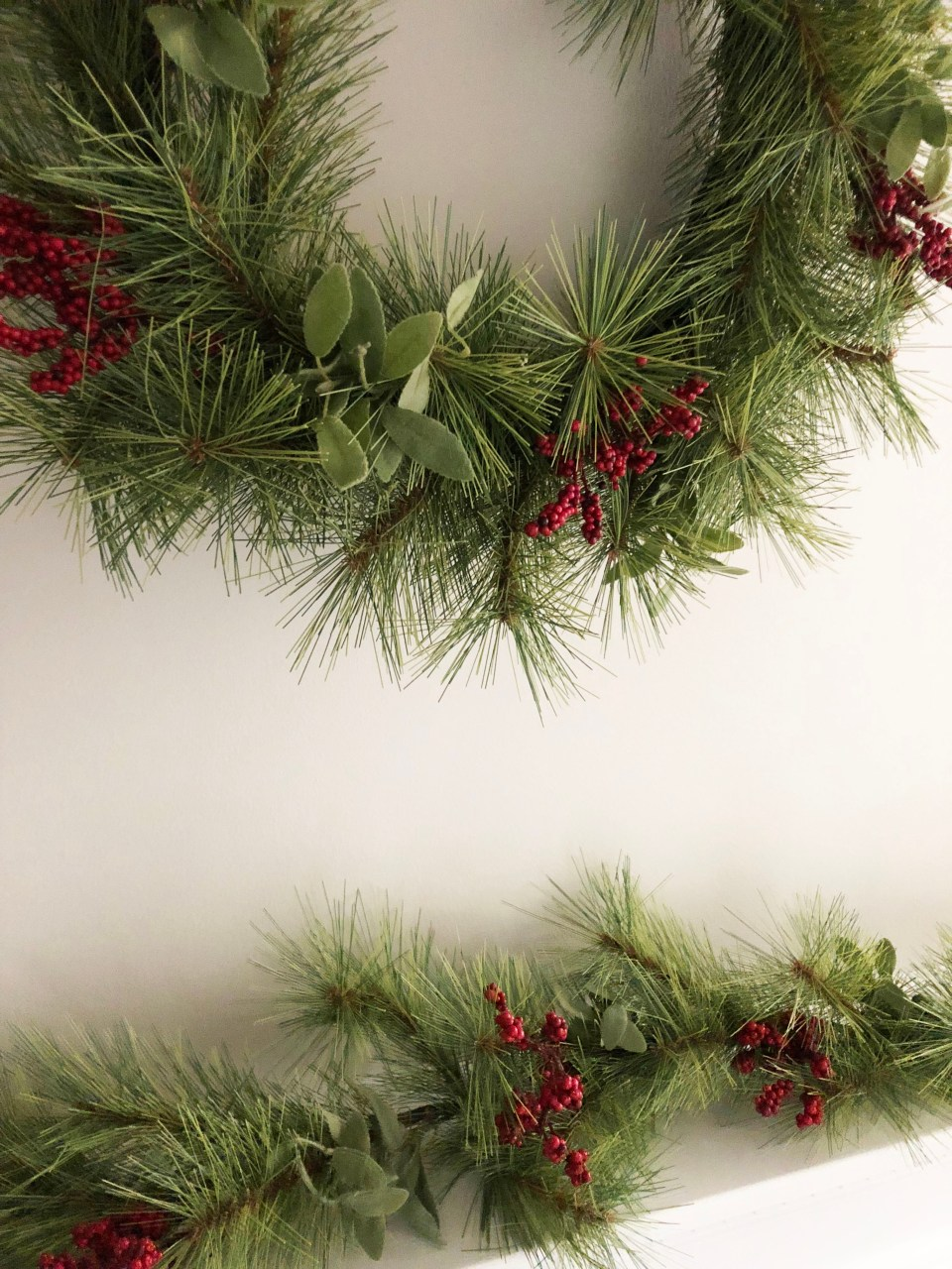 Mantel Garland and Wreath