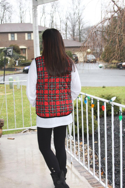 Merry Christmas tree tee + plaid vest 4