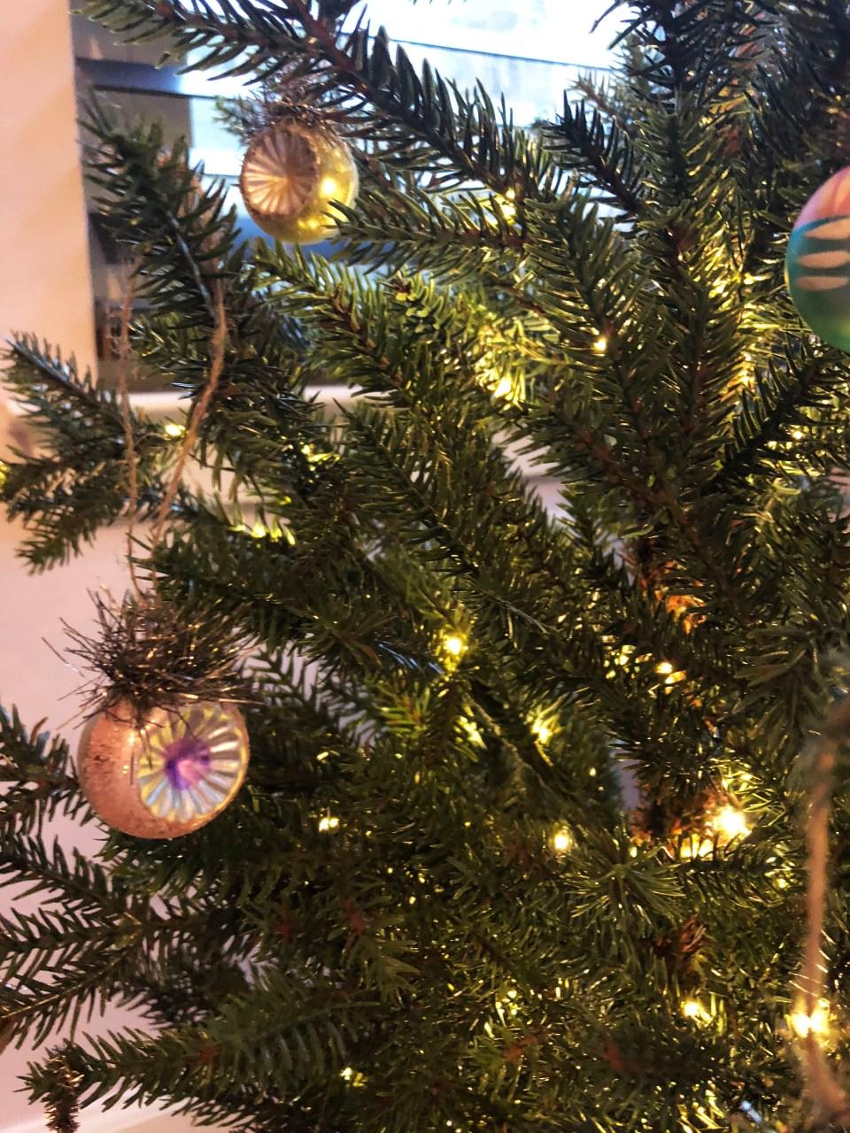 Mini Christmas Tree + Vintage Ornaments 3