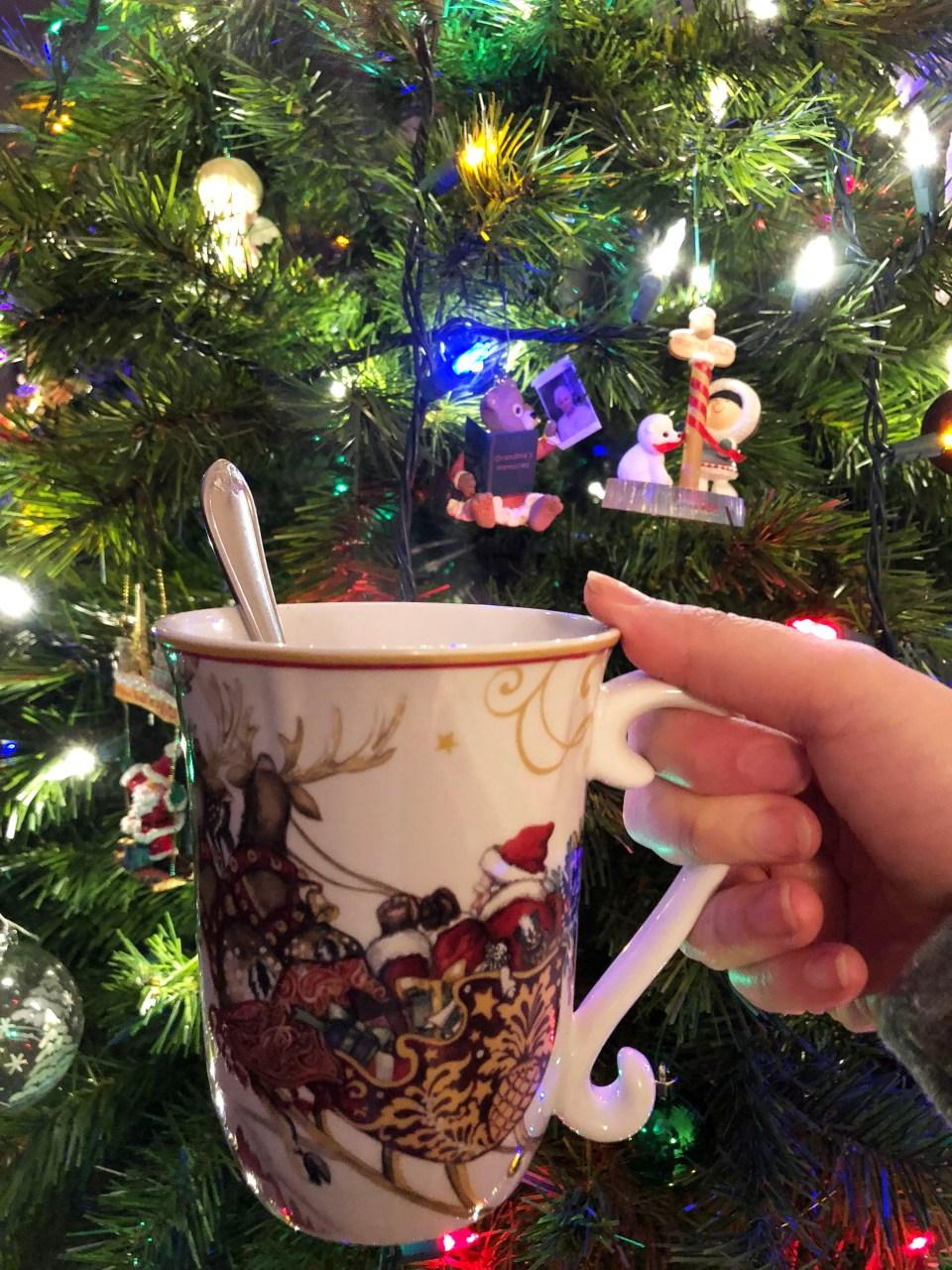 Santa & Reindeer Mug 1