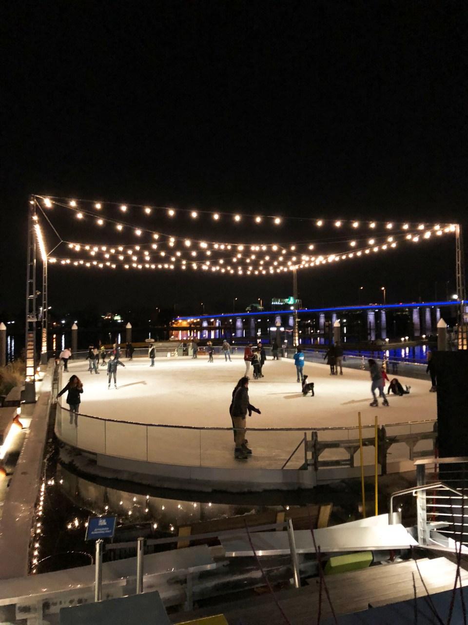Washington DC Wharf - Ice skating