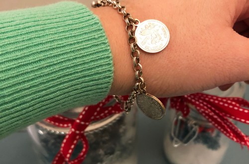 Angel Coin Charm Bracelet