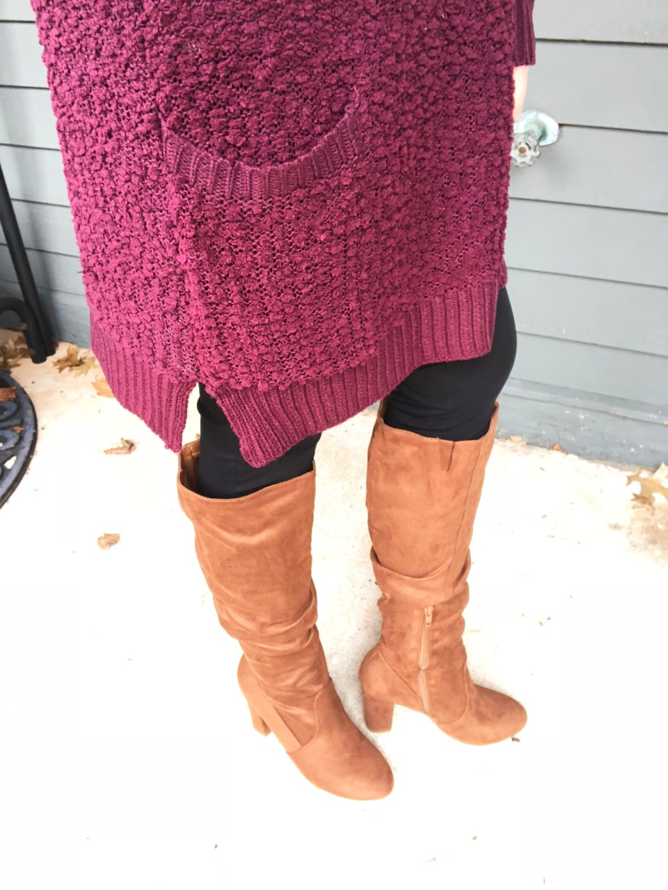 Burgundy Popcorn Sweater 13