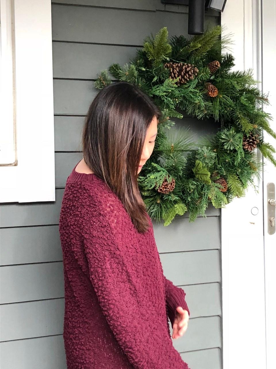 Burgundy Popcorn Sweater 3