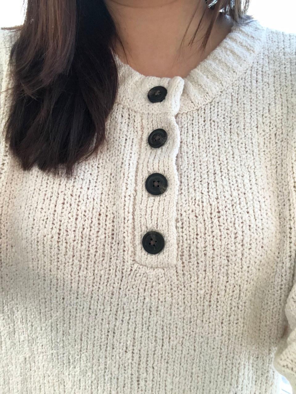 Cream Henley Pullover 13