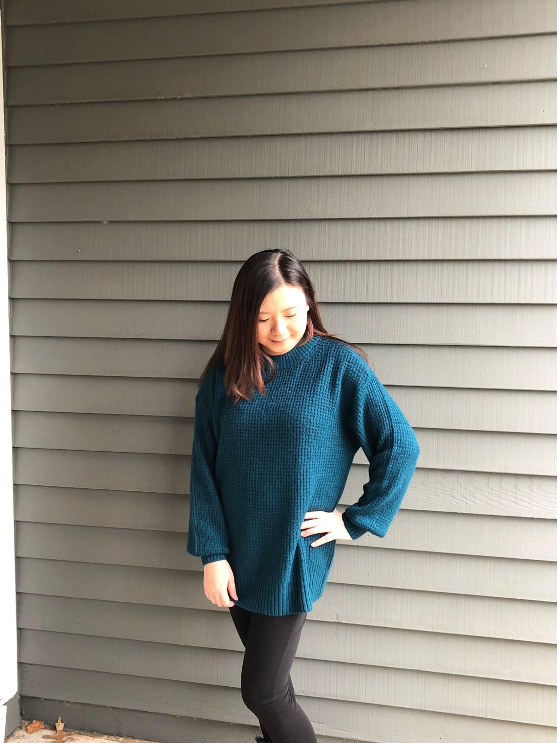 Teal Cloudspun Sweater