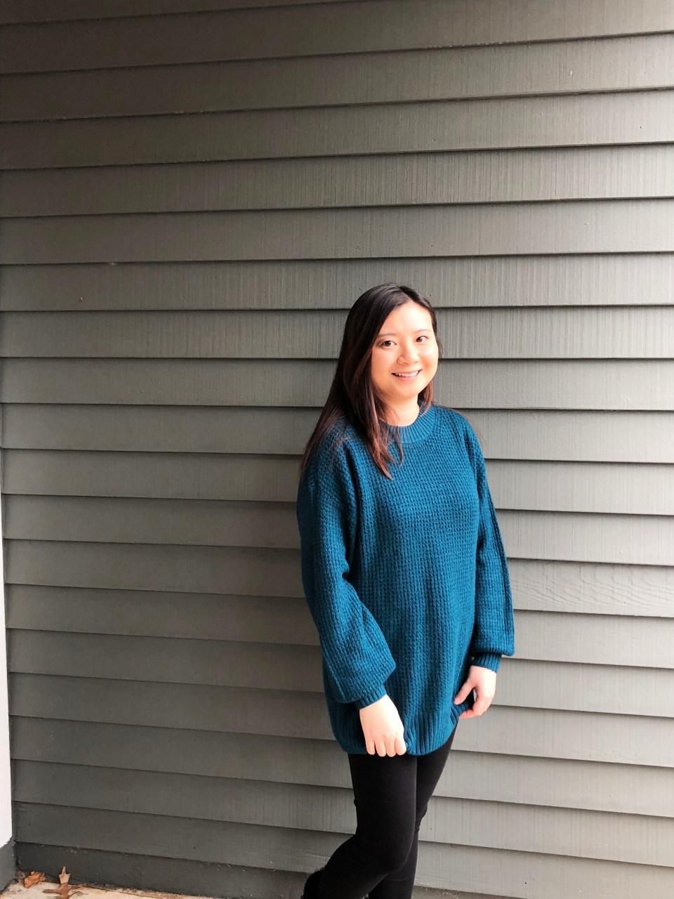 Teal Cloudspun Sweater 4