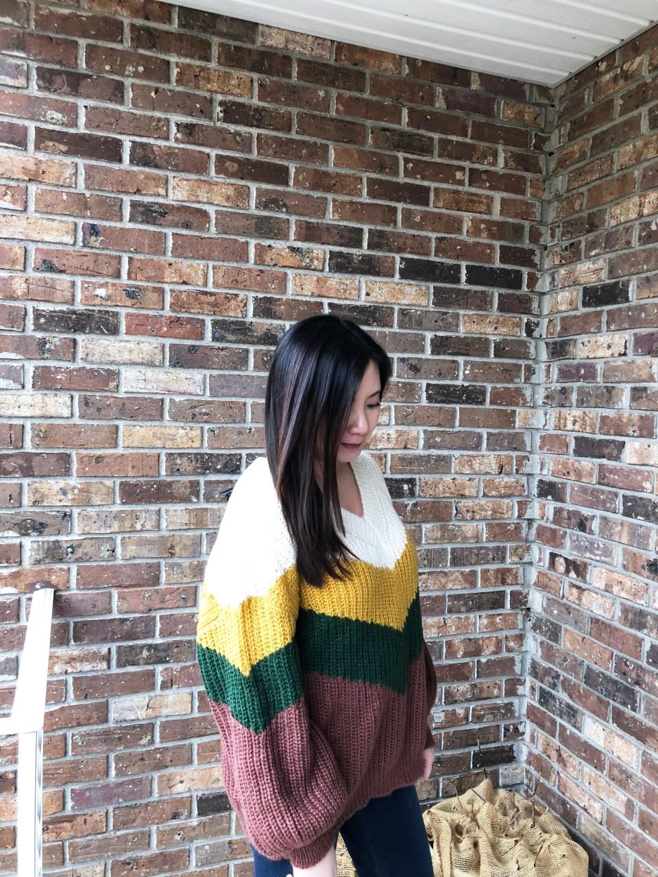 Colorblock Chevron Sweater 4