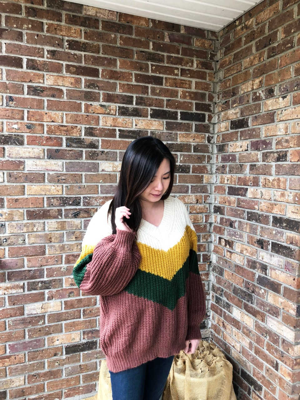 Colorblock Chevron Sweater 8