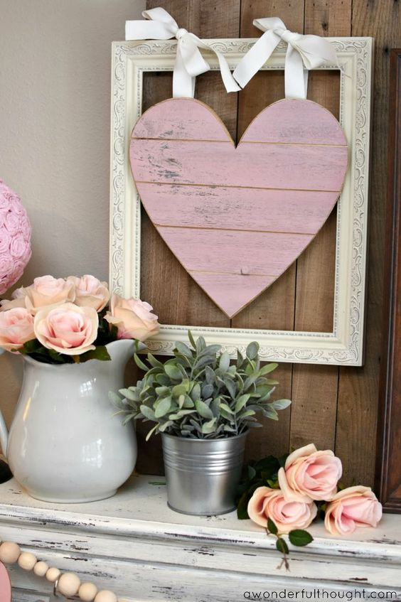 Grey & Pink Valentine Decor