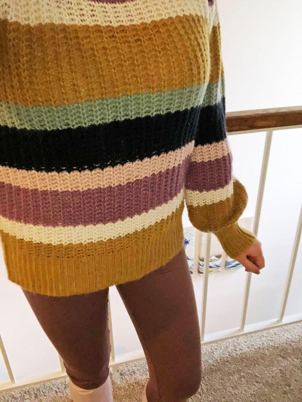 Lofty Puff Sleeve Striped Sweater 10