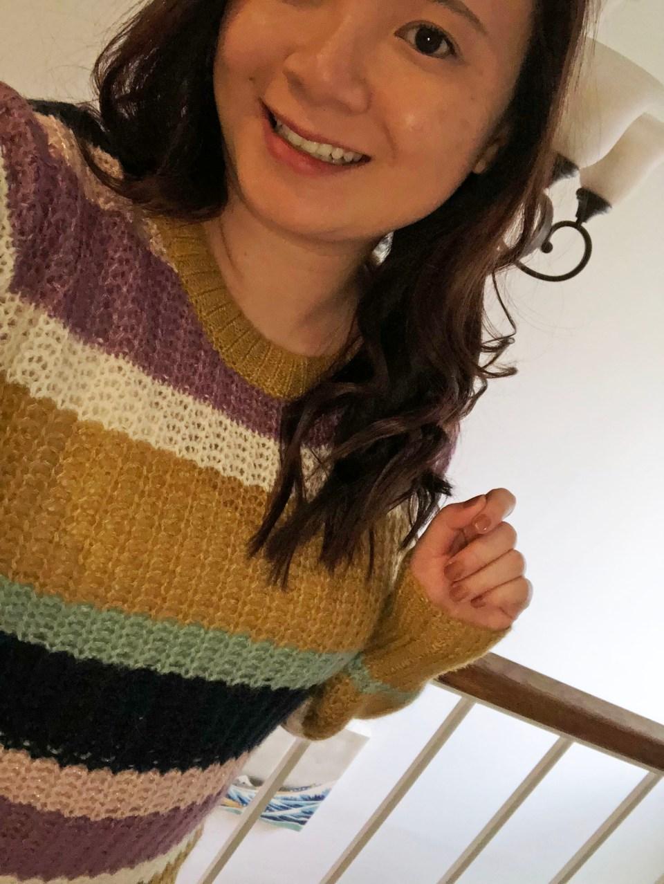 Lofty Puff Sleeve Striped Sweater 11
