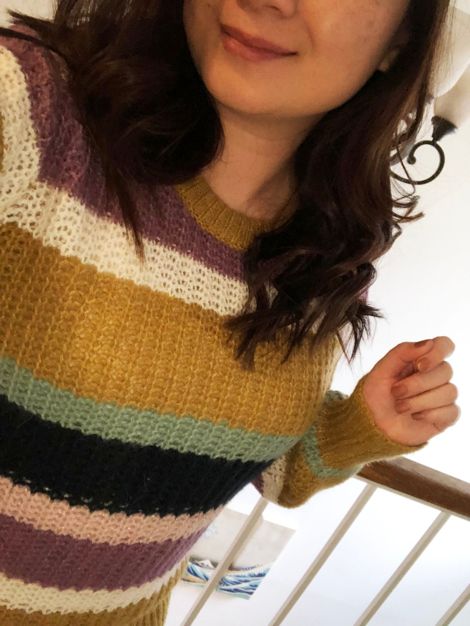 Lofty Puff Sleeve Striped Sweater 12
