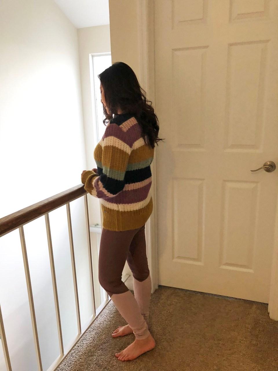 Lofty Puff Sleeve Striped Sweater 2