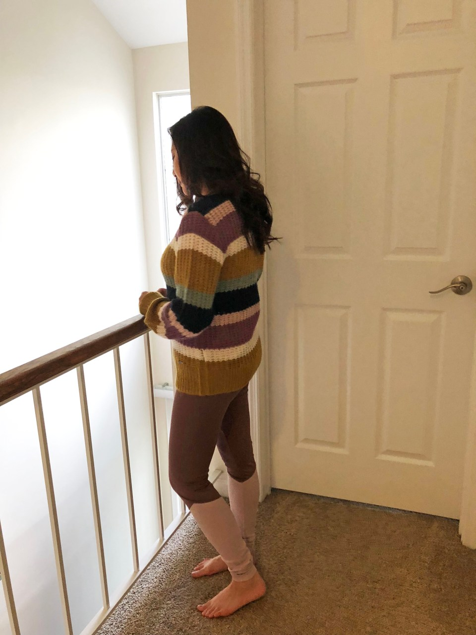 Lofty Puff Sleeve Striped Sweater 2