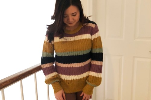 Lofty Puff Sleeve Striped Sweater