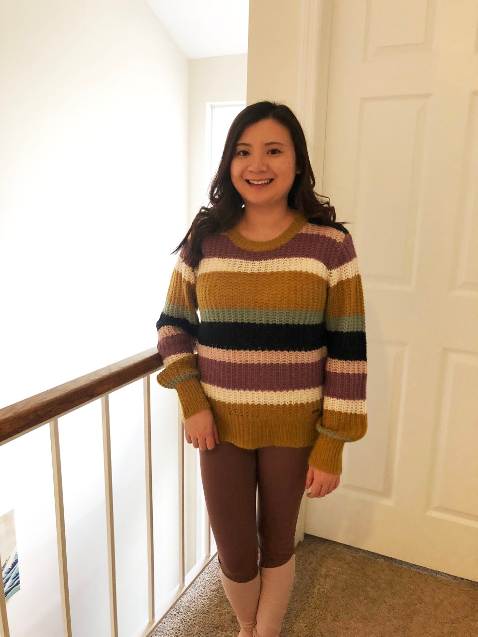 Lofty Puff Sleeve Striped Sweater 8