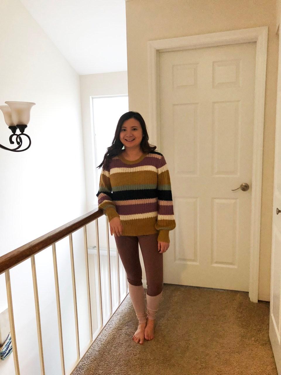 Lofty Puff Sleeve Striped Sweater