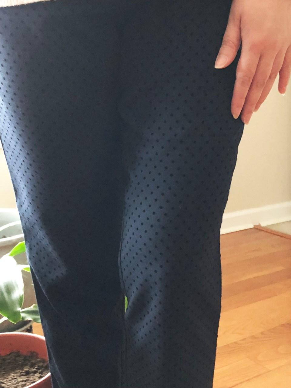 Velvet Polka Dot Pants 1