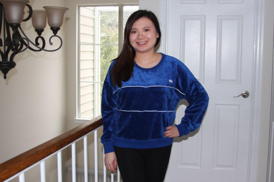 Blue Velour Sweatshirt 1