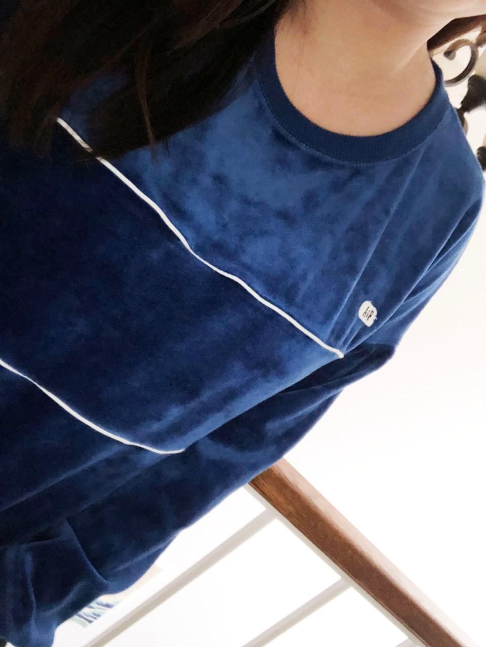 Blue Velour Sweatshirt 9