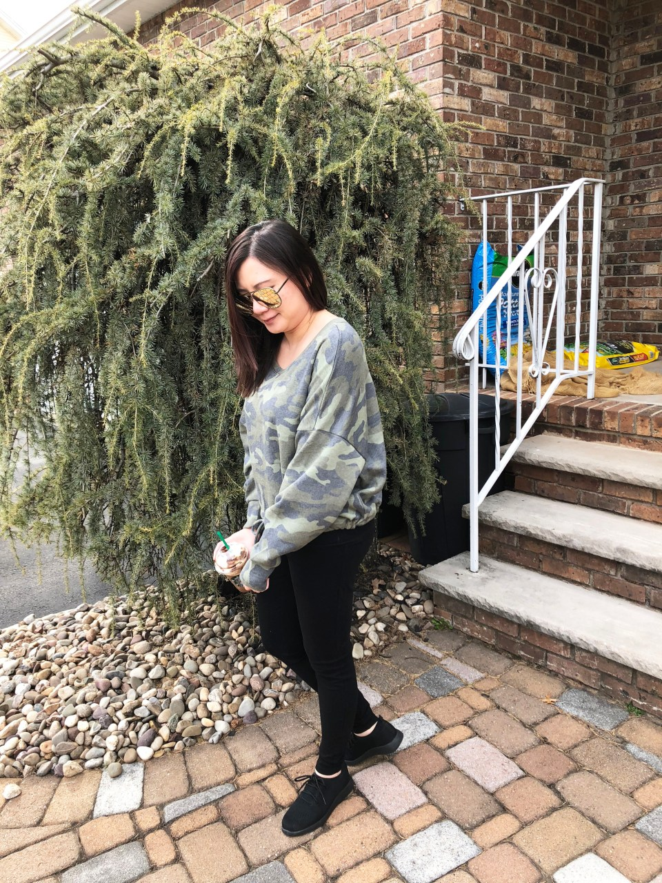Camo Drawstring Sweatshirt 2