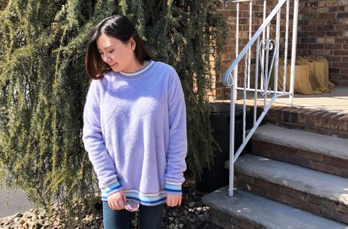 Pastel Orchid Cozy Sweater