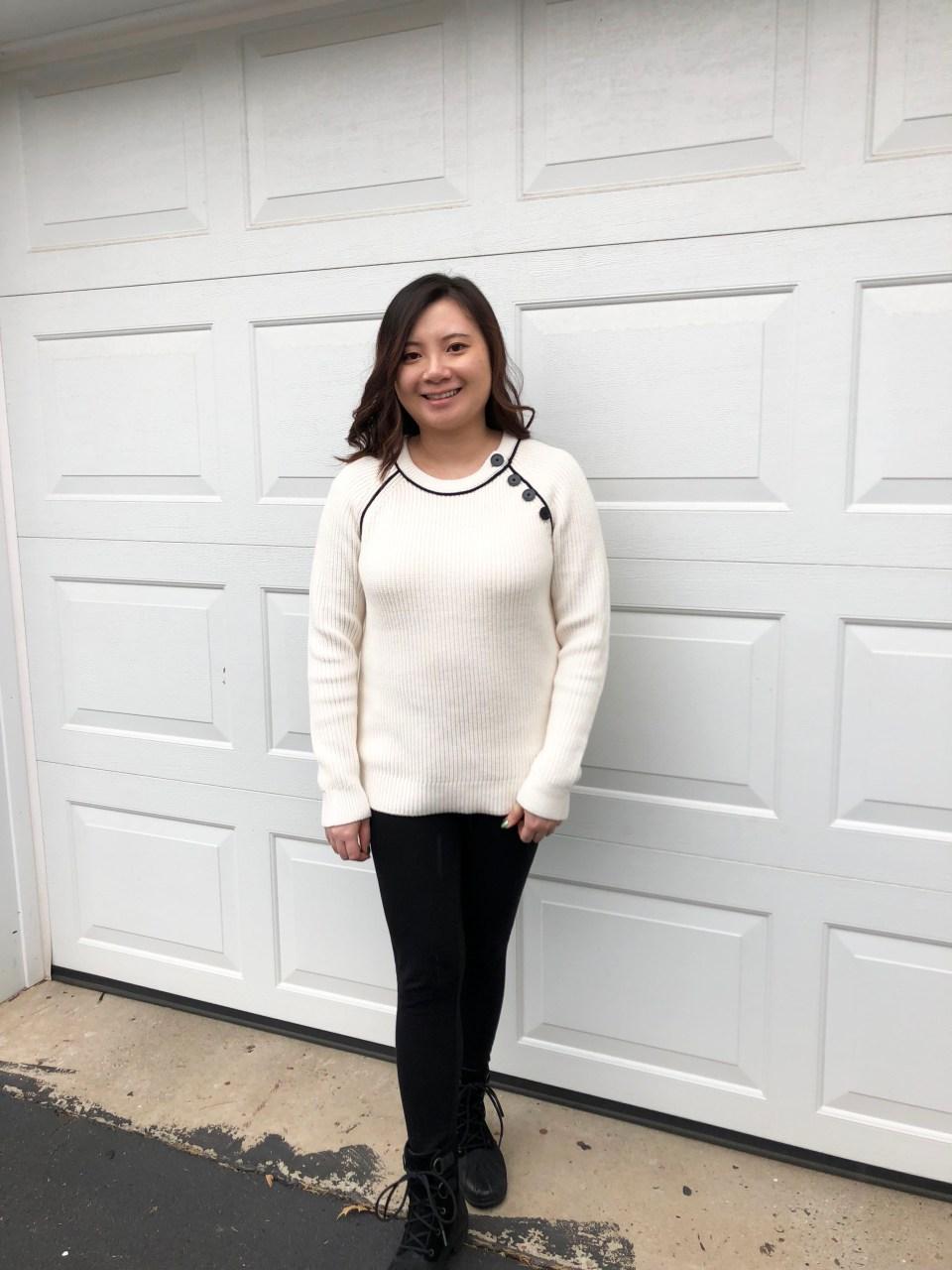 Piped Button Trim Sweater 7