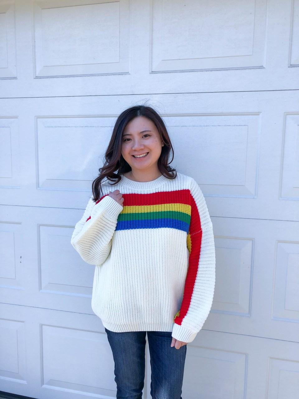 Rainbow Stripe Sweater 5
