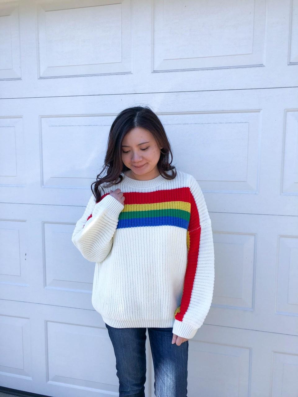 Rainbow Stripe Sweater 6