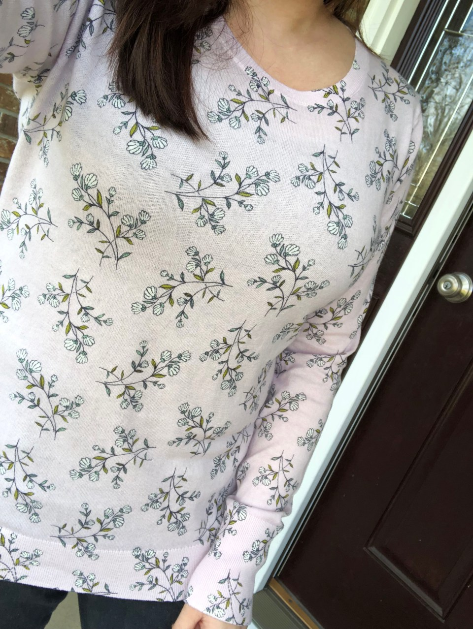 Faded Lavender Floral Top 13