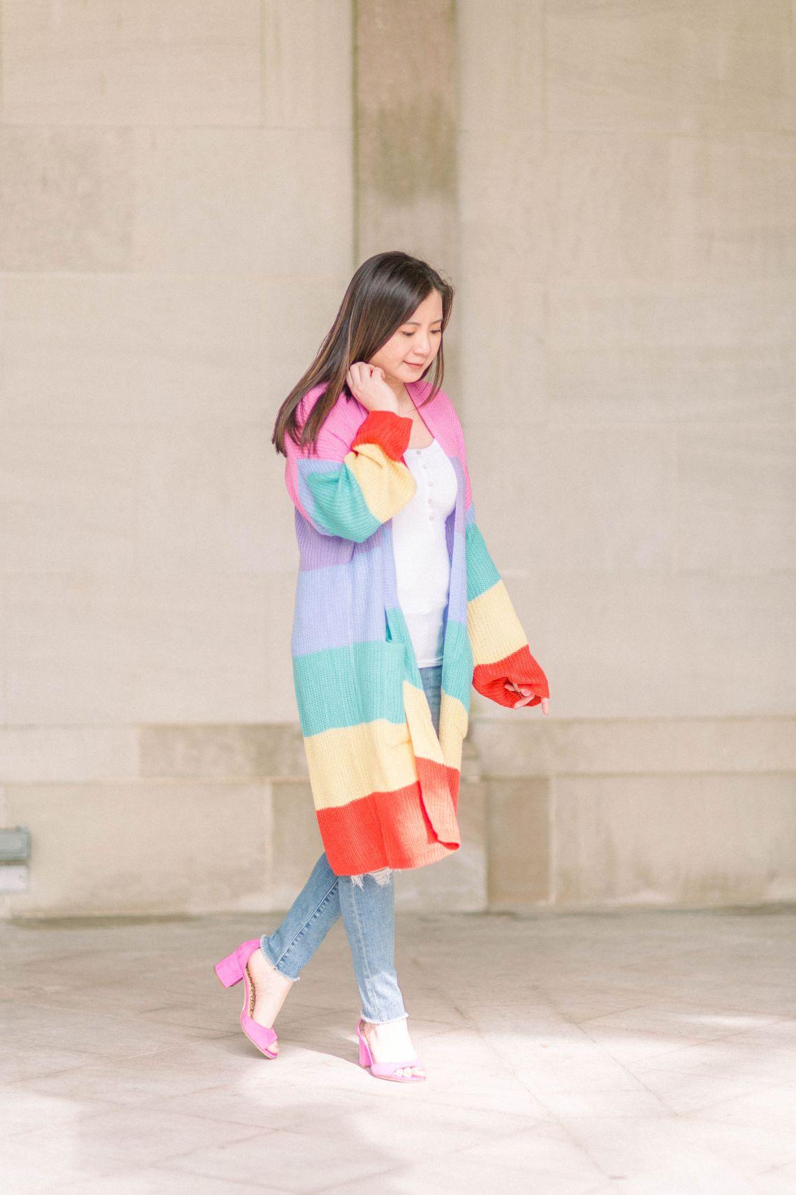 Rainbow Stripe Cardigan