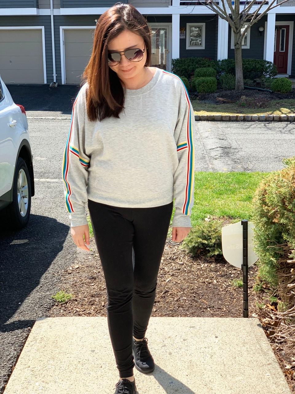 Rainbow Varsity Stripe Top 6