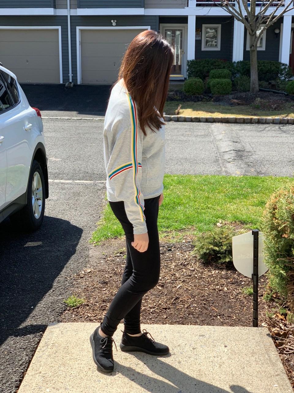 Rainbow Varsity Stripe Top