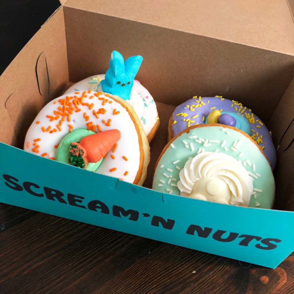 Scream'n Nuts - easter donuts