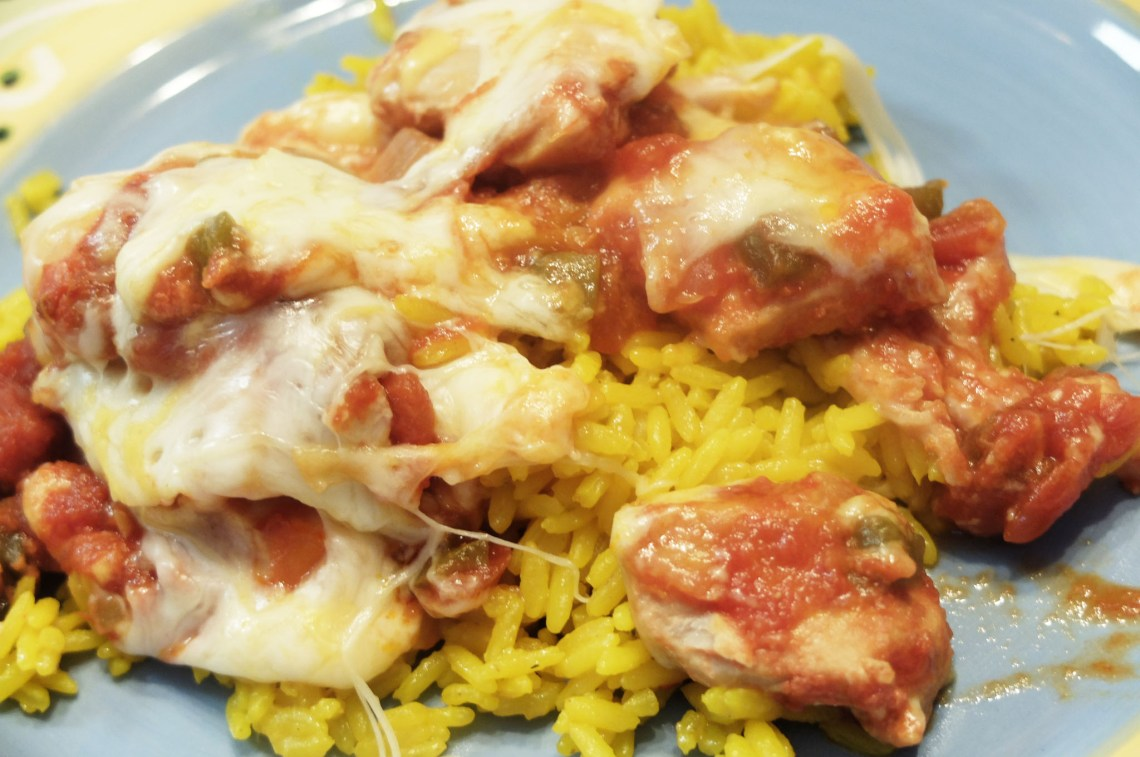 Slow Cooker Cheesy Salsa Chicken