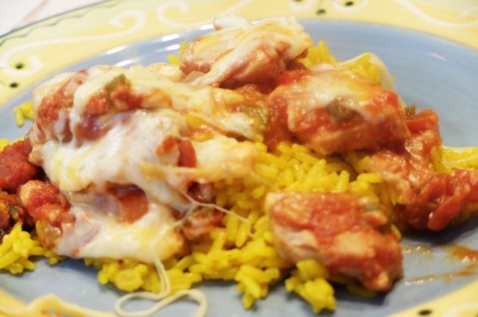 Slow Cooker Cheesy Salsa Chicken 6
