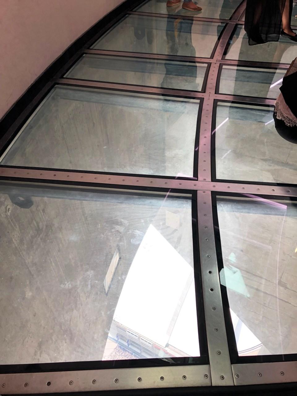 CN Tower - glass floor