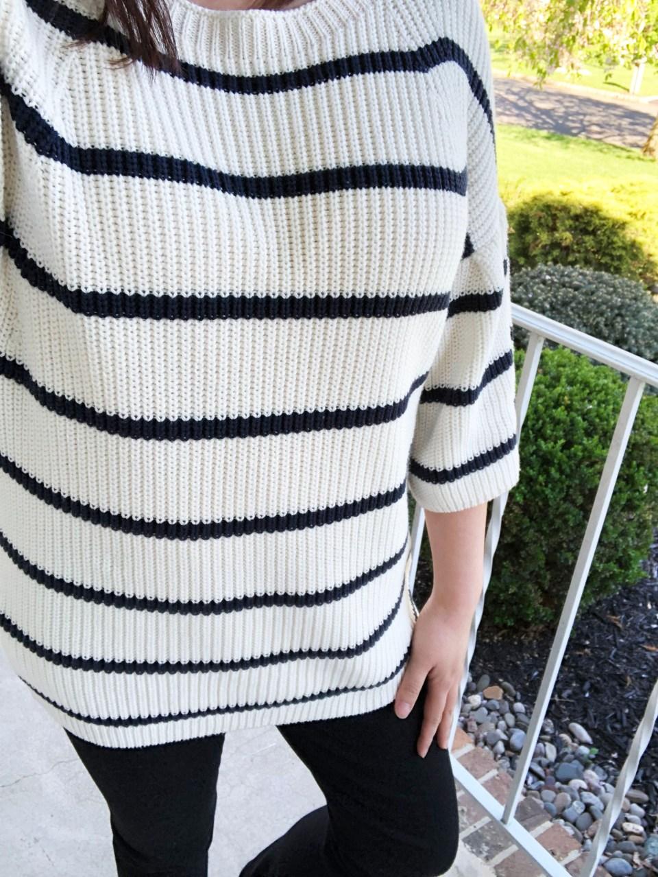 Striped Short Bell Sleeve 10
