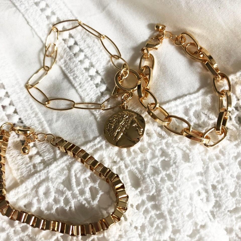 Dainty Gold Bracelet Stack 1