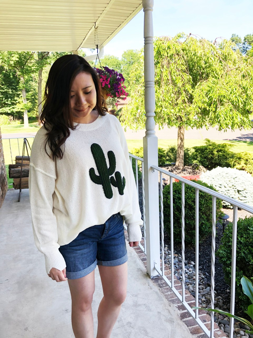 Embroidered Cactus Patch Sweater 14