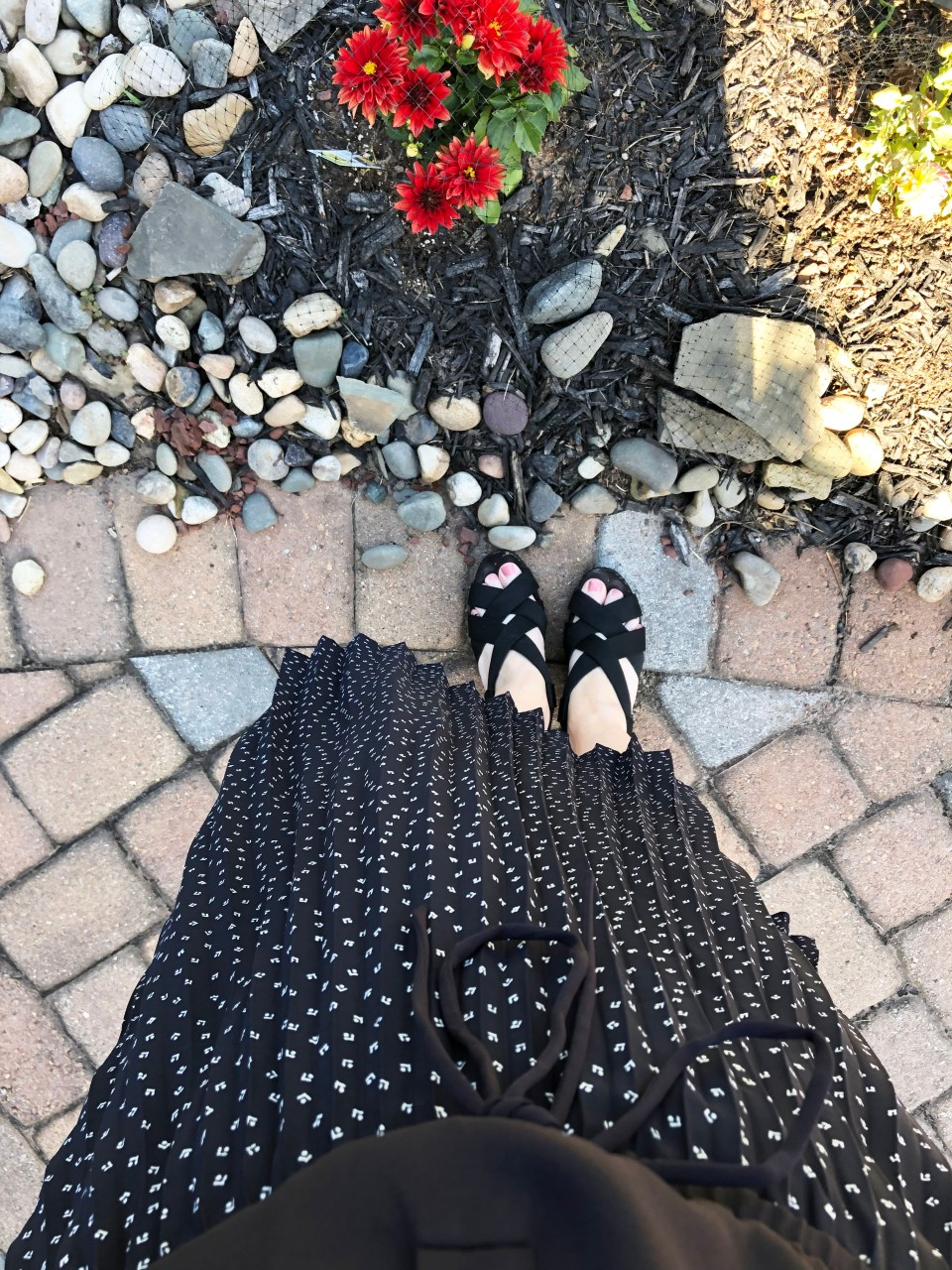Geo Pleated Henley Dress 16
