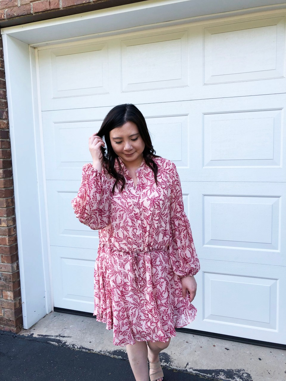 Grapevine Balloon Sleeve Dress 11