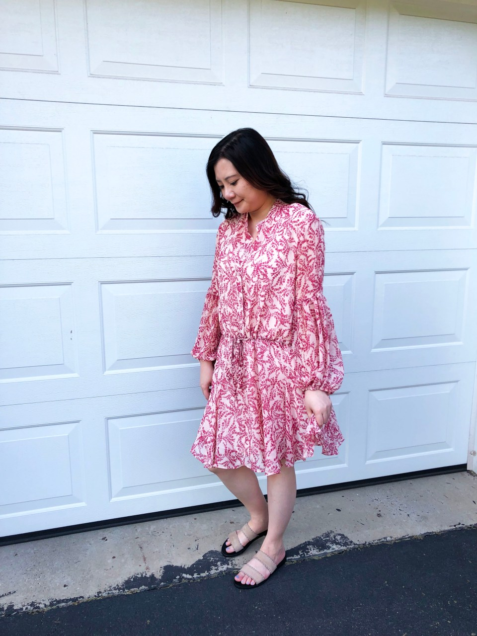 Grapevine Balloon Sleeve Dress