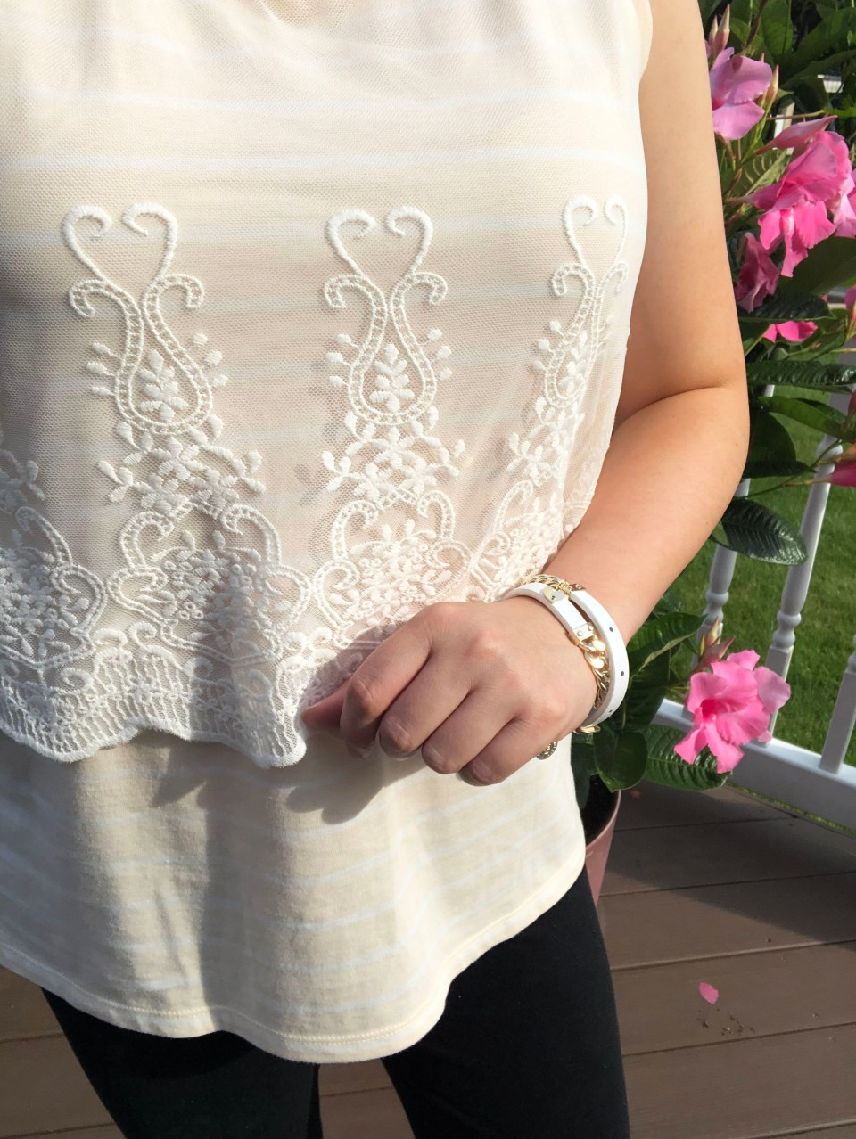 Embroidered Sheer Overlay Tank 14